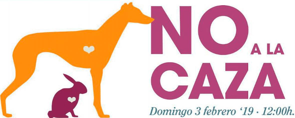 'No a la caza', Manifestación el 3 de Febrero a las 12:00